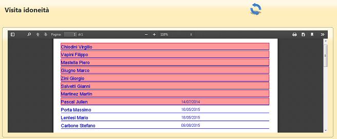 Test Pro report idoneità